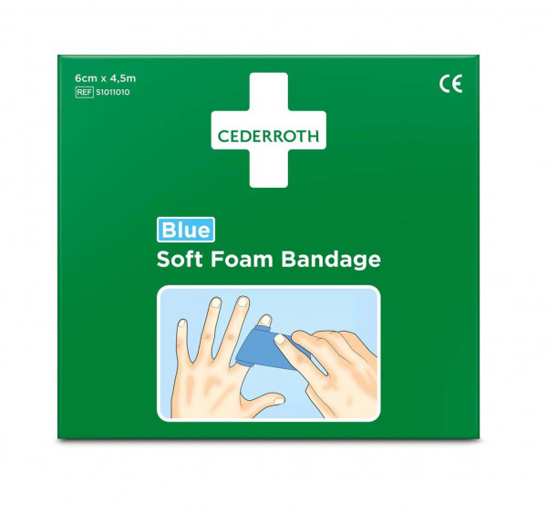 Cederroth Soft Foam Bandage Blue 4,5m