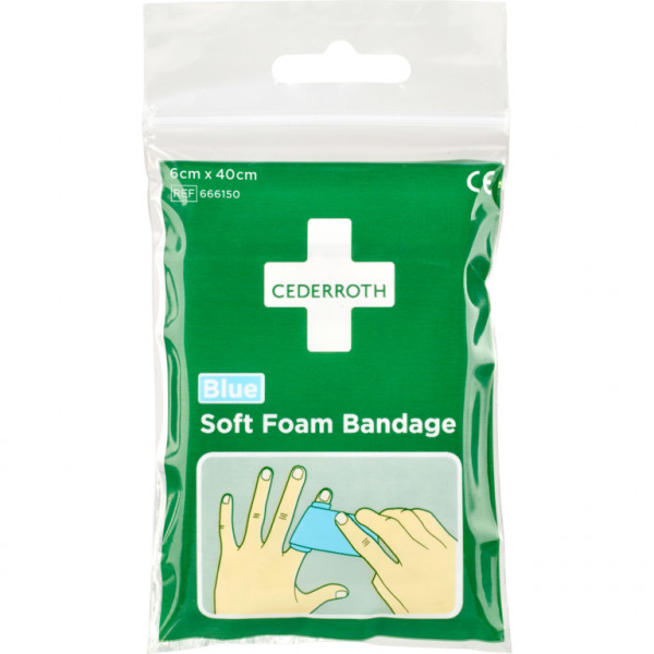 Soft Foam Bandage Blue – Zakformaat (40cm)